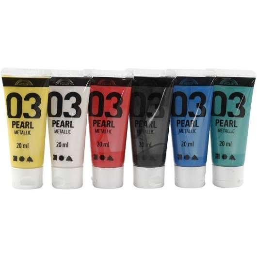A-Color - Acrylfarbe - Metallic - (6 x 20 ml)