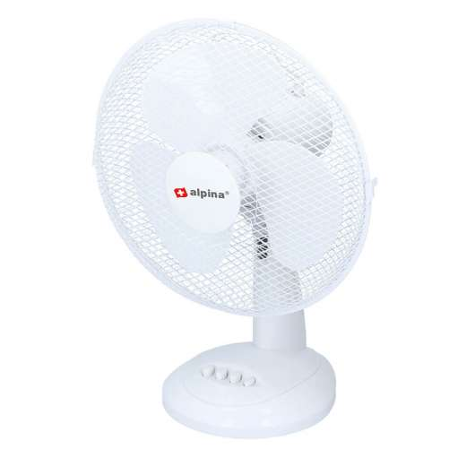 ALPINA - Fan Table Fan 30cm White