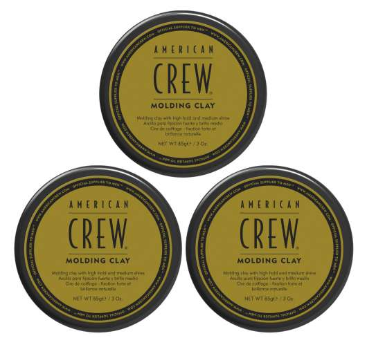 American Crew - 3x Molding Clay 85 gr.