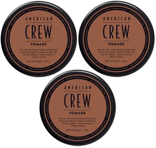 American Crew - 3x Pomade 85 gr.