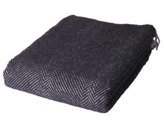 ARCTIC - Wool Blanket - Black  Grey 130x200 cm (59S3036)