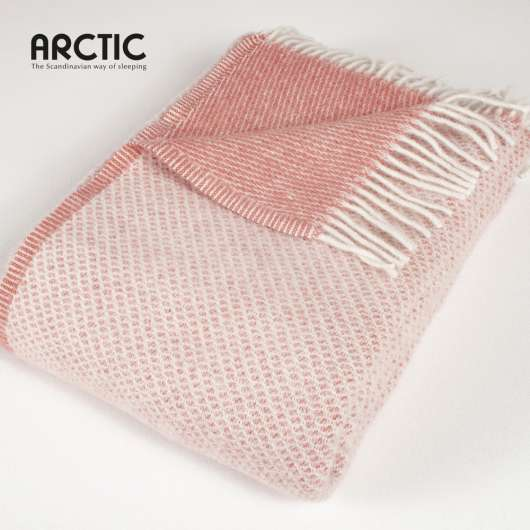 ARCTIC - Wool Blanket - Diamond Coral 130x200 cm59216)