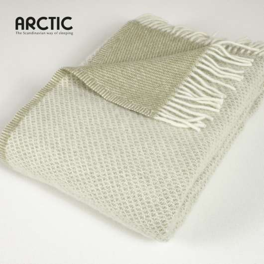 ARCTIC - Wool Blanket - Diamond Olive 130x200 cm (59215)