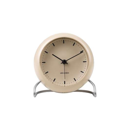 Arne Jacobsen - City Hall Table Clock - Sand (43693)