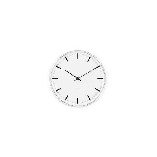 Arne Jacobsen - City Hall Wall Clock 16,5 cm - White (43621)