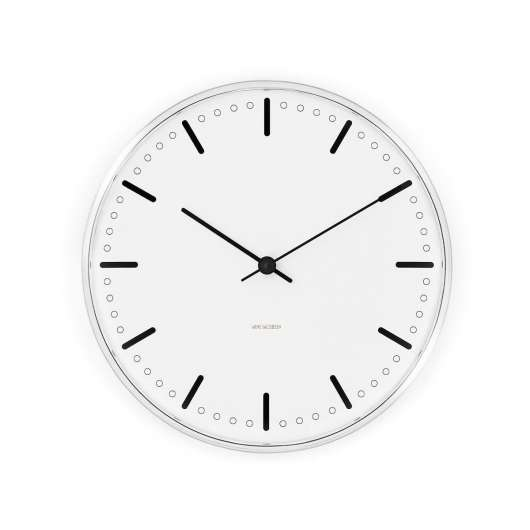 Arne Jacobsen - City Hall Wall Clock 29 cm - White (43641)