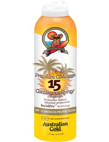 Australian Gold - Premium Coverage SPF15 Spray 177 ml