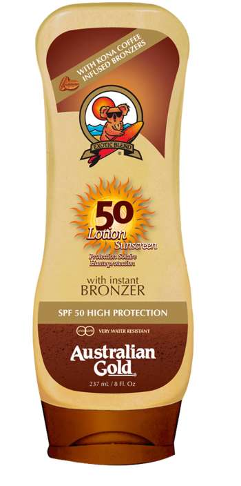 Australian Gold - Sunscreen Lotion w. Bronzer 237 ml - SPF 50