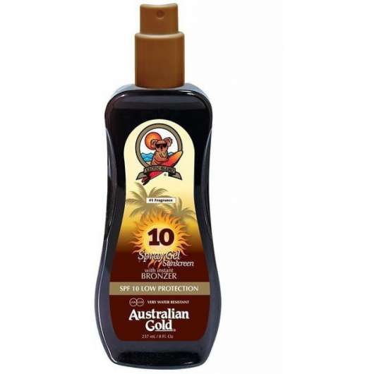 Australian Gold - Sunscreen Spray Gel w. Instant Bronzer 237 ml - SPF 10