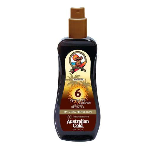 Australian Gold - Sunscreen Spray Gel w. Instant Bronzer 237 ml - SPF 6