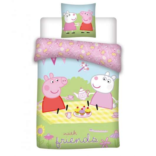 Bed Linen - Junior Size 100 x 140 cm - Peppa Pig  (100080-01)