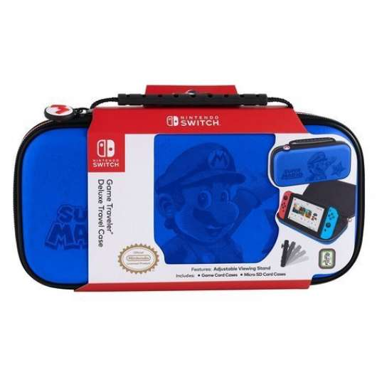 Big Ben Nintendo Switch Official Travel Case Blue Mario