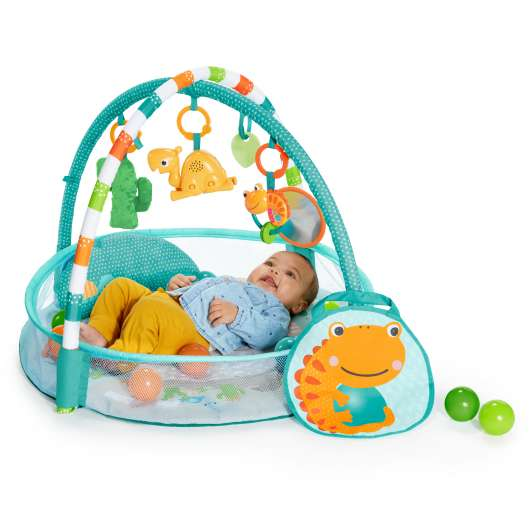 Bright Starts - Rounds Of Fun Baby Infant Activity Play Gym, Blue (11979)