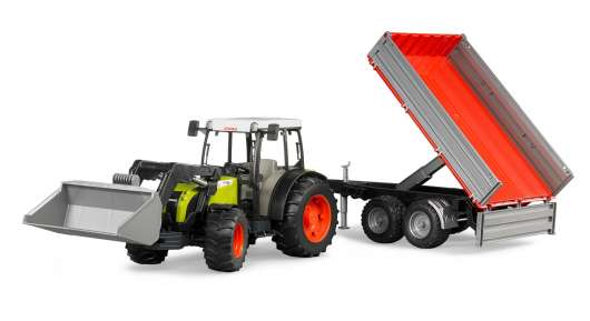 Bruder - Claas Nectis 267 F with frontloader and tipping trailer (BR2112)