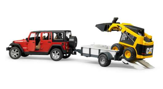 Bruder - Jeep Wrangler Rubicon with Trailer & Cat Vehicle (2925)
