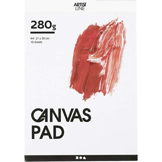 Canvas block - A4 (10 x 280 g) (25753)